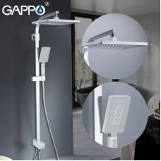 Душевая система с верхним душем ручной лейкой белый/хром G2408-8