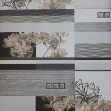 5697-10 Expromt Серо-бронзовые цветы на плитке