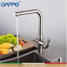 Смеситель для кухни с подключением фильтра питьевой воды нержавеющая сталь G4399-4