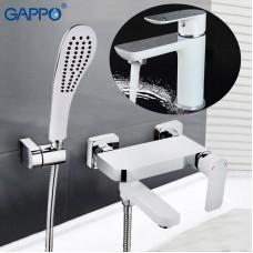 Смеситель для ванны Gappo G3248 (Белый)