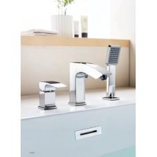 L1198 смеситель врезной  для ванны (Хром)