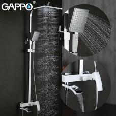 Душевая система излив является переключателем на лейку белый/хром G2407-8